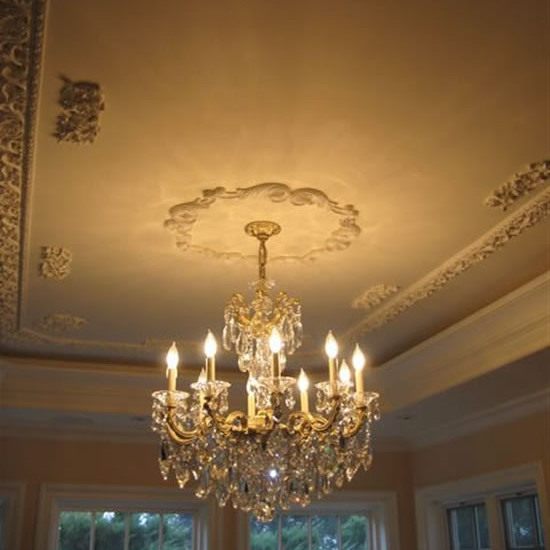 Architectural Detailing Dining Room Ceiling