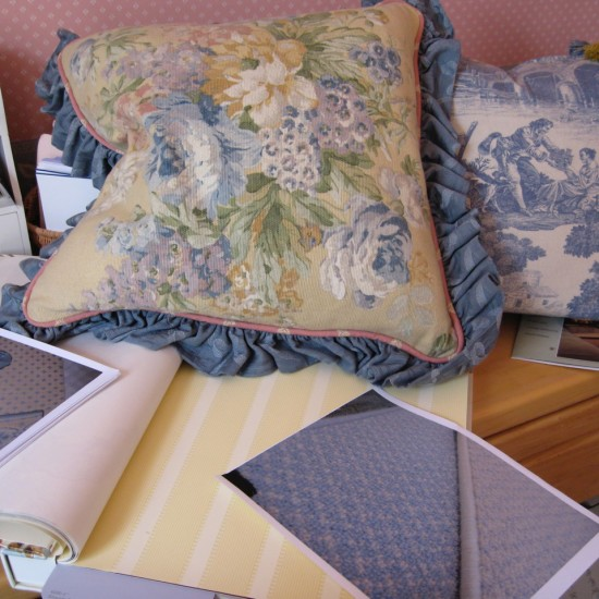 Designers help you select the right fabrics, wallcoverings and flooring