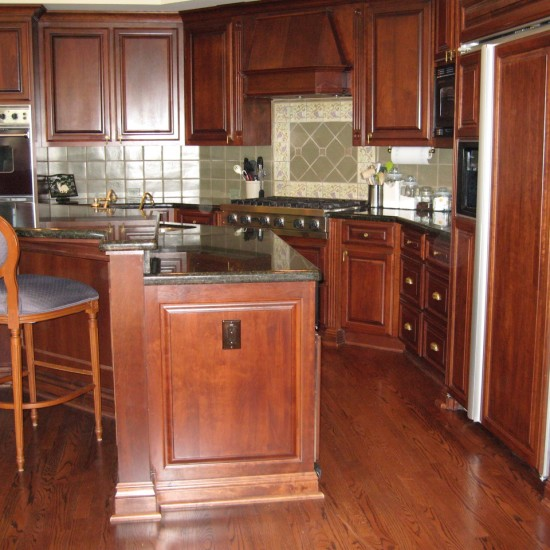 For lovers of Cherry cabinetry and flooring:kitchen